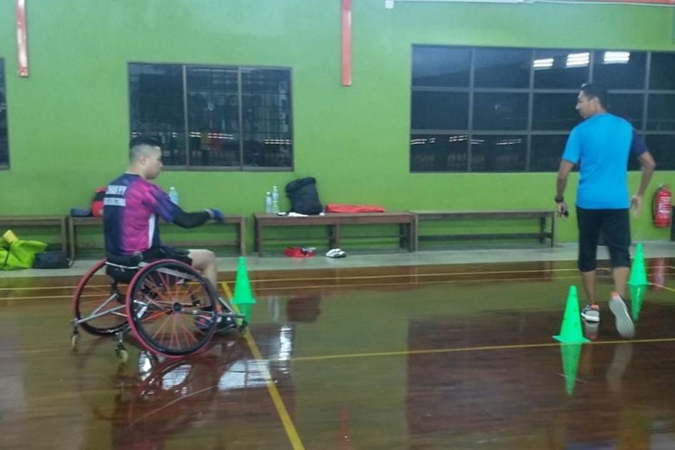 殘疾人羽毛球隊前赴馬來西亞進行海外集訓