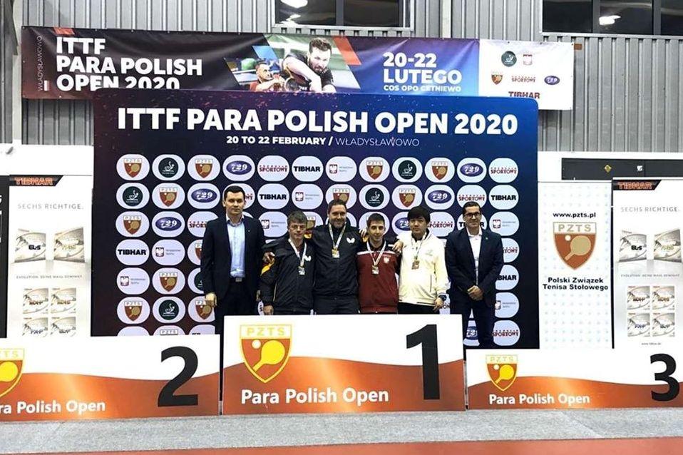 港隊於ITTF波蘭殘疾人乒乓球公開賽2020勇奪一銀三銅