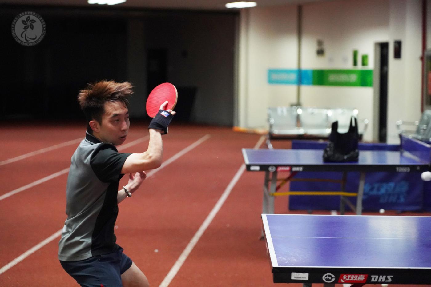全國第十一屆殘運會香港代表團於深圳大運中心進行集訓